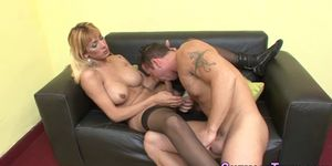 pretty shemale hearty gets her assbanged by hunky stud kai bailey
