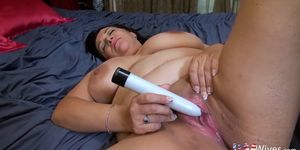 OLD NANNY - USAwives Compilation of Mature Solo videos