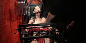 Restrained milf Lolanis amateur bdsm and tied tit of suffering slavegirl in debutant domination session Porn Videos
