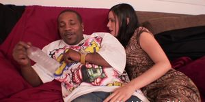 Tiny Mina Leigh fucked by a Thick Black Cock