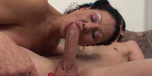 Stepma Sucking Young Cock And Receives Warm Facial Porn Videos