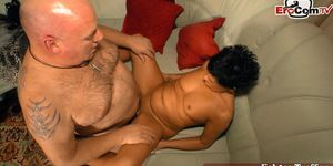 EROCOM.TV - german mature short hair housewife fuck with husband