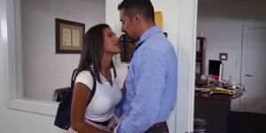 Daddys girl blowing coworkers cock in office