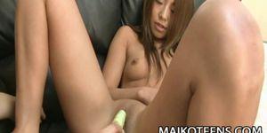 Saki Maruo - YOung Hairless JAV Teen Pussy Creampied
