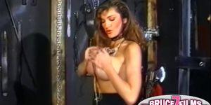 Horny lesbians enjoy fucking a strap on