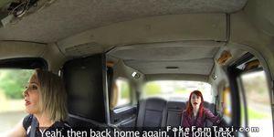 Female cab driver spanks redhead lesbo Porn Videos
