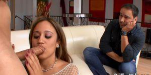 Hot wife cuckold with facial Porn Videos