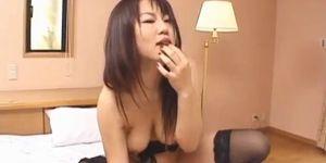 Rei Himekawa deals huge dick in sexy POV style