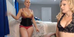Two Blonde Lesbian Having Sex On Cam
