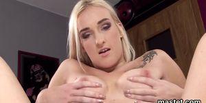Slutty czech nympho spreads her juicy vagina to the strange