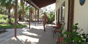 Sexy blonde pornstar anika albrite loves outdoor public sex