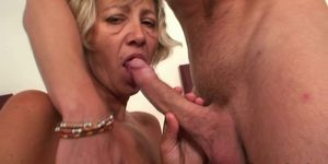 Old cleaning woman rides horny dick Porn Videos