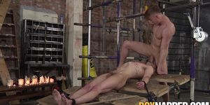 Restrained Black Stud Gets Jizzed