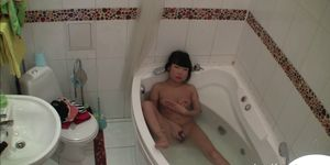 Bathtub masturbation of the breathtaking Asian girl Porn Videos