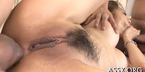 Raucous anal for busty asian chick