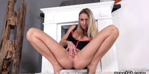 Nasty czech kitten stretches her yummy slit to the special