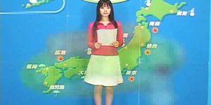 Porn sex weather - The japanese weather program  bukkake