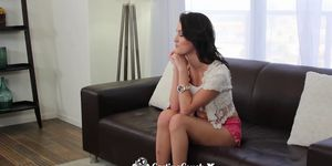 CastingCouch-X - Brunette Renne Roulette fucked on the casting couch Porn Videos