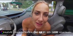 HoliVR _ Car Sex Adventure, Real driving fuck