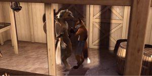 Porntube gay horse sex - 3d gay anthro horse and fox fuck