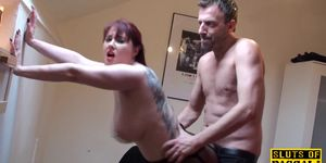 Pussy rubbing uk redhead fucked hard by dom