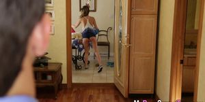 Cum faced teen babysitter Porn Videos