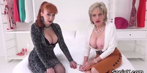 Adulterous british mature lady sonia exposes her huge knockers