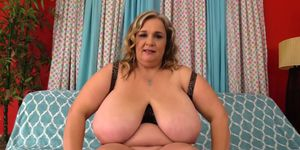 Huge Breasted BBW Cami Cooper Rubs Her Pussy Before Filling It with Cock