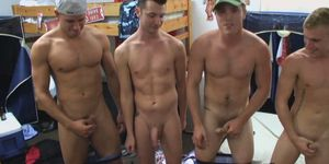 Collage gays get nude in dorm game