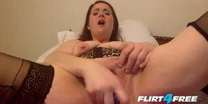 Chubby Girl Fingers Her Sopping Wet Pussy