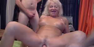 Busty grandmas first gangbang party