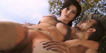 Tight pussy Lara Croft getting hammered hard