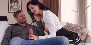 Euro Babe with Big Tits Takes a Fat Dick Inside of Her Hole