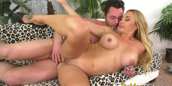 Busty Mature Blonde Claudia Valentine Gets Drilled by Her Young BF