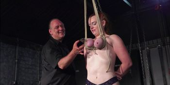Breast bondage and tit torment