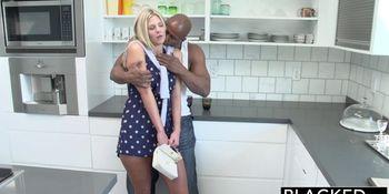 Preppy Blonde Girl Loves Big Black Dick
