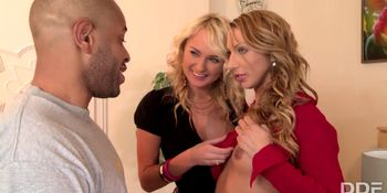The Sugar Sex Sandwich - Two Blondes and 1 Big Black Cock