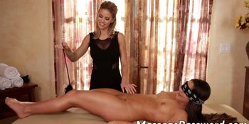 Hot lesbian chicks have a sensational massage fuck session