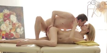 I Fucked Her Finally - They make a crazy anal sex on massage table