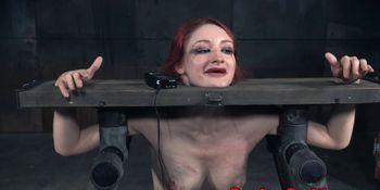 Redhead sub punished by black male dom