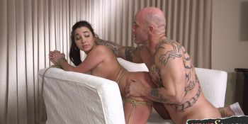 Sexy bdsm chick roughly fingered and toyed