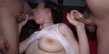 German deep throat queen anal banged
