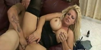 Bigtit Mom In Sexy Lingerie Receives Hard Pussy Fucking