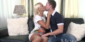 Mature blonde babe knows how to keep her man hard