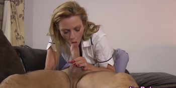 Amateur brit nurse jizzed
