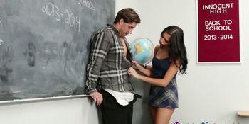 Latina teen fucks teacher