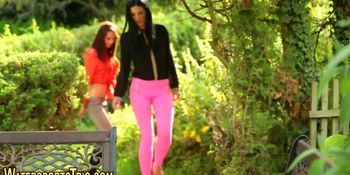 Lesbos piss in the garden