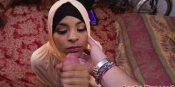 Hijab arab fingered before handjob and sex