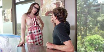 Horny Stepmom Chanel Preston Bounces Her MILF Pussy