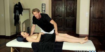 Massaged big boobs milf